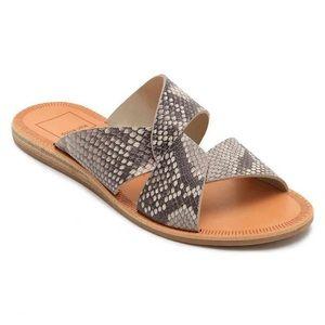 DOLCE VITA Derby Faux Snakeskin Sandal - Size 10M